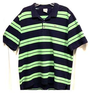 Lacoste Green and Blue striped Polo 💚💙